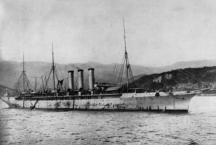 """The """"Philadelphia"""", another of the ships on which Midleton emigrants returned (US Navy Research Center)"""