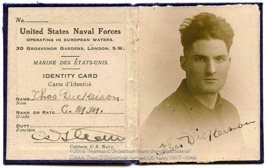 WWI ID Thos D Dickersonlowres