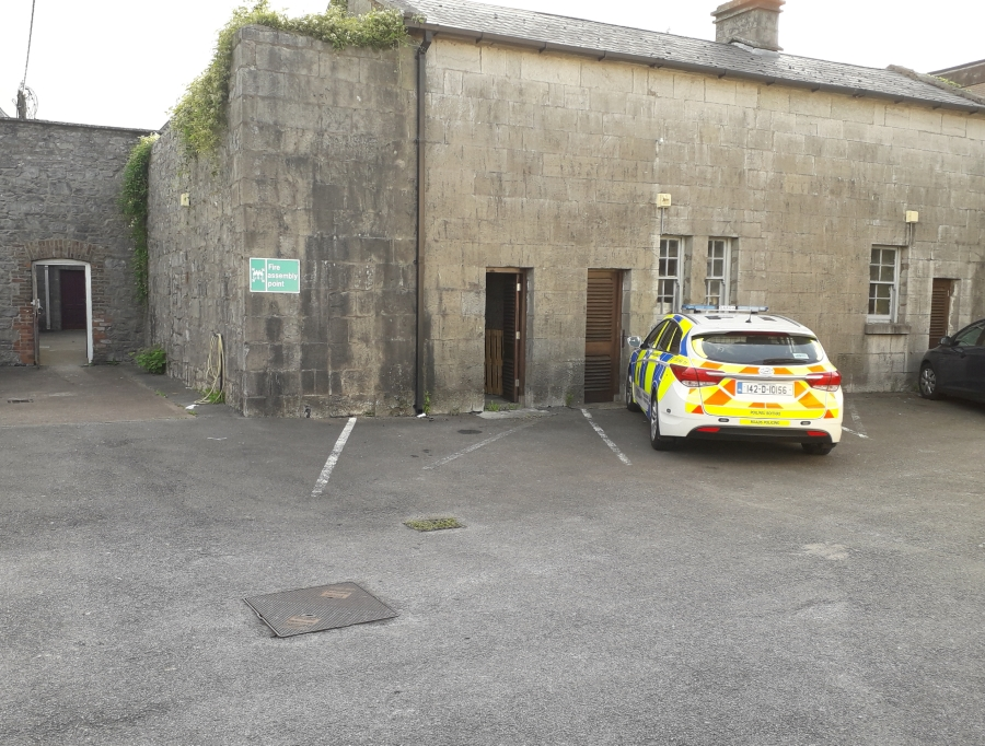 The location where IRA volunteers were photographed with their motor car in Midleton (Damian Shiels)