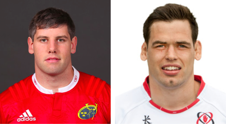 Dave O'Callaghan (Munster Rugby) and Clive Ross (Ulster Rugby), both products of Midleton College, where rugby has been played since the 19th century