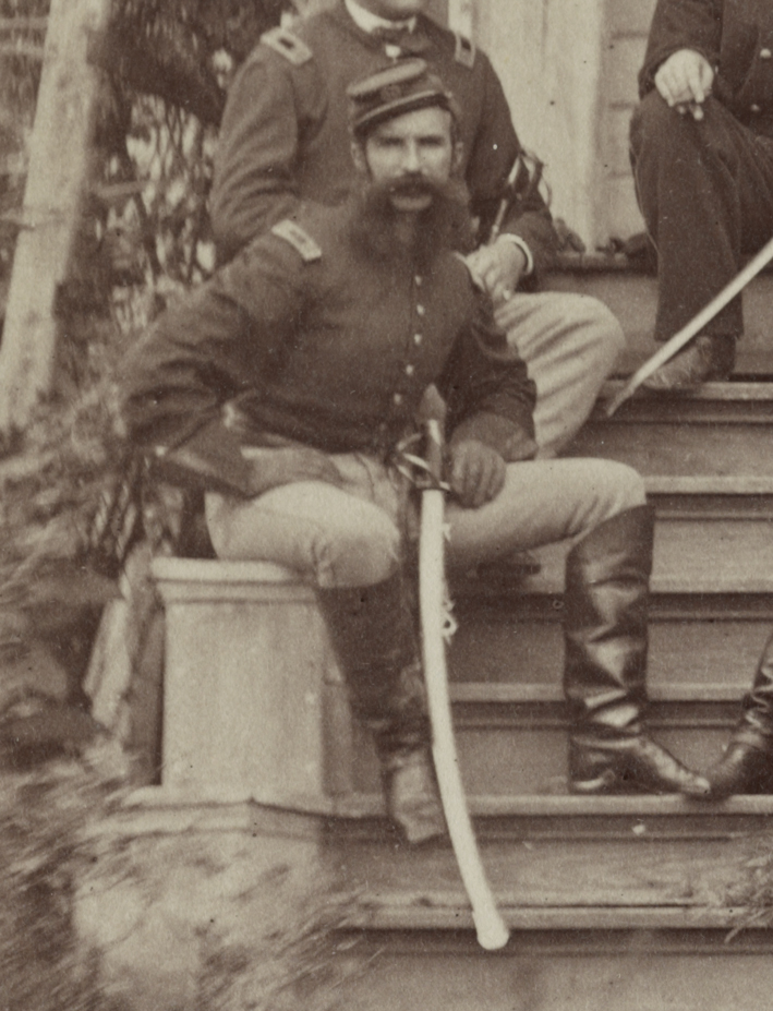 Detail of the Civil War photograph showing Midleton's John Joseph Coppinger (Library of Congress)