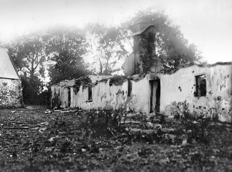 The burnt cottage at Clonmult, where 12 members of the local Flying Column were killed (a further two were executed later). Many of these men had participated in the Midleton Ambush.